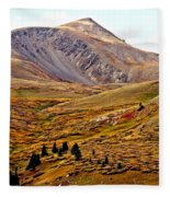 Autumn Peaks In The Rockies Fleece Blanket