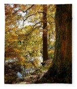Autumn Perspective Fleece Blanket