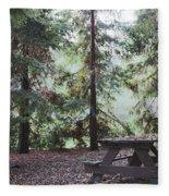 Autumn Picnic In The Woods  Fleece Blanket