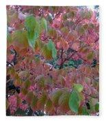 Autumn Pink Poster Fleece Blanket