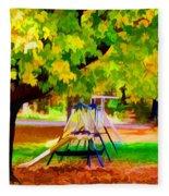 Autumn Playground 1 Fleece Blanket