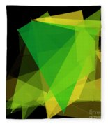 Autumn Polygon Pattern Fleece Blanket