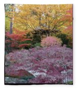 Autumn Purple Fleece Blanket