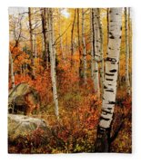 Autumn Quakies Fleece Blanket