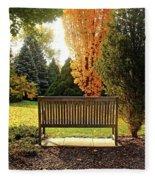 Autumn Quiet Fleece Blanket