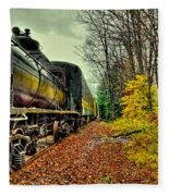 Autumn Railway Fleece Blanket