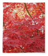 Autumn Red Poster Fleece Blanket