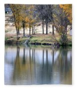Autumn Reflection 16 Fleece Blanket