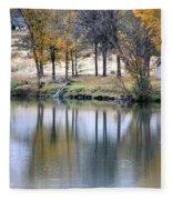 Autumn Reflection 16 Fleece Blanket