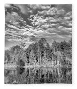 Autumn Reflection 2 Bw Fleece Blanket