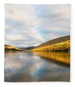 Autumn Reflection At Arrochar Fleece Blanket