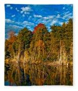 Autumn Reflection II Fleece Blanket