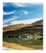 Autumn Reflection, Loch Long Fleece Blanket
