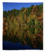 Autumn Reflection Of Colors Fleece Blanket