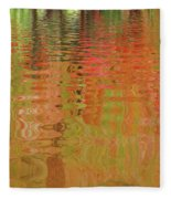 Autumn Reflections Abstract Fleece Blanket