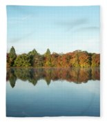 Autumn Reflections At Belmont Lake Fleece Blanket