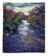 Autumn Riders On The Storm Fleece Blanket