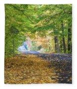 Autumn Road 2 Fleece Blanket