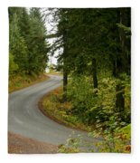 Autumn Road Fleece Blanket