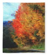 Autumn Roadside Fleece Blanket