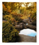 Autumn Rock Garden Fleece Blanket