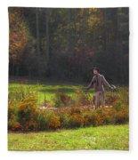 Autumn Scarecrow Fleece Blanket