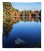 Autumn Serenity In Maine Usa Fleece Blanket