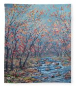 Autumn Serenity Fleece Blanket