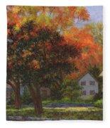 Autumn Shadow And Light Fleece Blanket