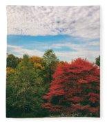 Autumn Skies Fleece Blanket