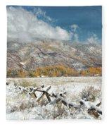 Autumn Snowfall In Aspen Fleece Blanket