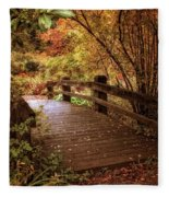 Autumn Splendor Bridge Fleece Blanket