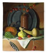 Autumn Still Life Fleece Blanket