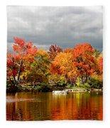 Autumn Storm Coming Fleece Blanket