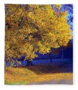 Autumn Sunrise In The Country Fleece Blanket
