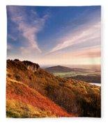 Autumn Sunset At Sutton Bank Fleece Blanket