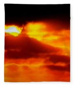 Autumn Sunset Denmark  Fleece Blanket