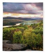 Autumn Sunset In The Catskills Fleece Blanket