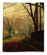 Autumn Sunshine Stapleton Parknear Pontefract  Fleece Blanket