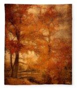 Autumn Tapestry - Lake Carasaljo Fleece Blanket