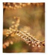 Autumn Tones Fleece Blanket