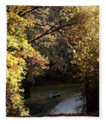 Autumn Trees 3 Fleece Blanket