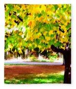 Autumn Trees 6 Fleece Blanket