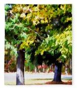 Autumn Trees 7 Fleece Blanket