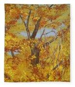 Autumn Treetops Fleece Blanket