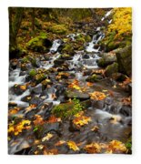 Autumn Tumbles Down Fleece Blanket
