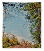 Autumn Up Hill Fleece Blanket