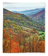 Autumn Valley Fleece Blanket