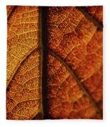 Autumn Veins Fleece Blanket