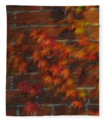 Autumn Vines Fleece Blanket